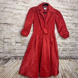 Tadashi Vintage Red Dress Pin up Style